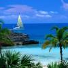 Плажна ивица на Бахамите